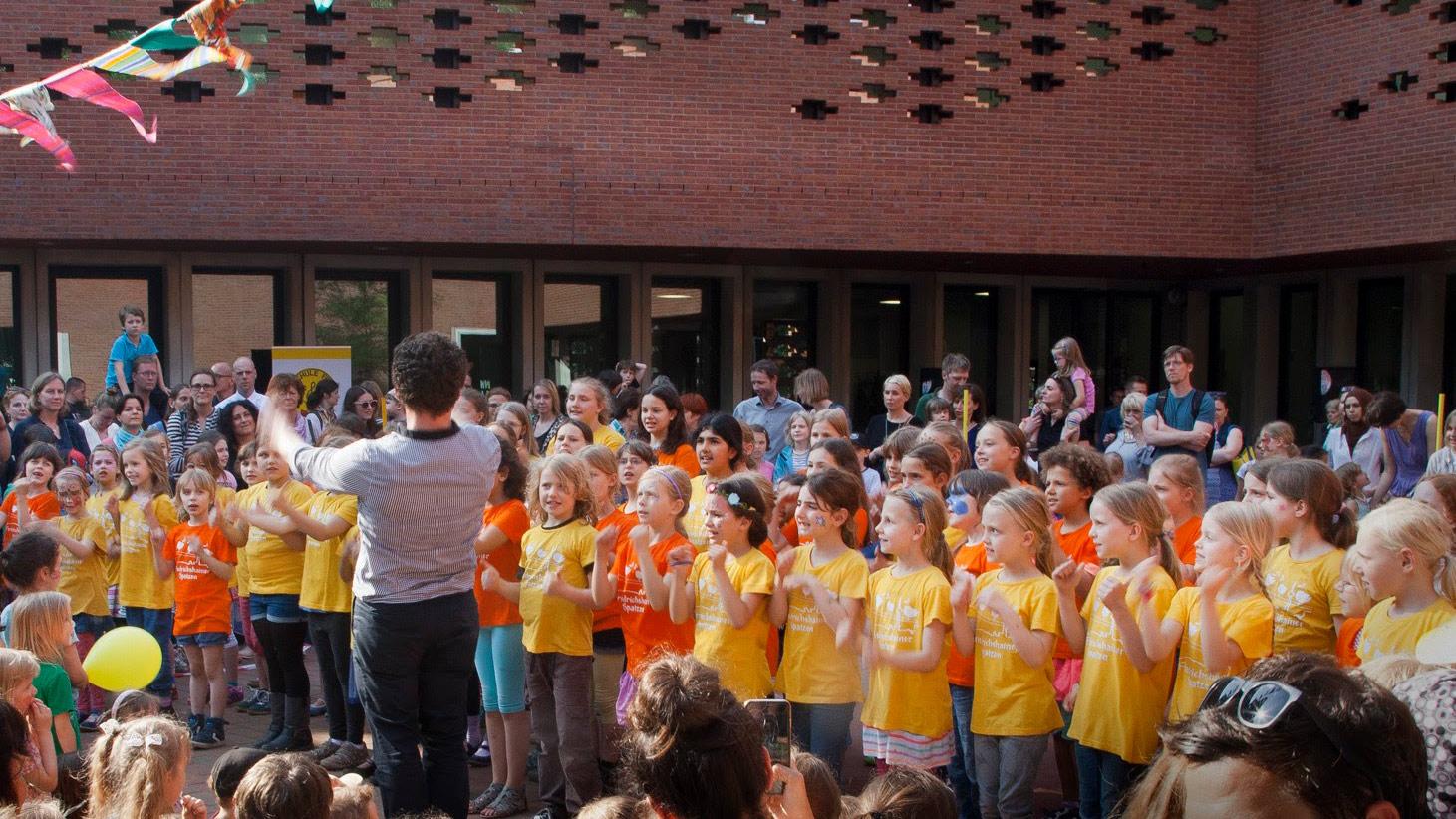 Chor - Auftritt in der Ludwig-Hoffmann-Grundschule
